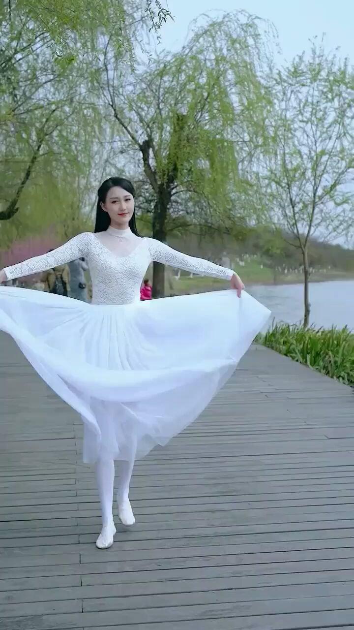 春天的芭蕾·湖边的白天鹅