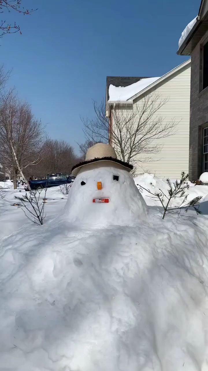 雪——雪人。#新人报道请多关照
