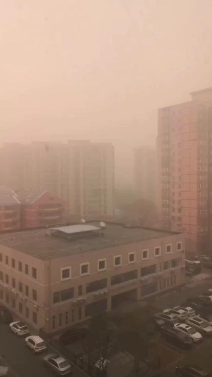 今日上午的北京,够劲儿……#3月你好