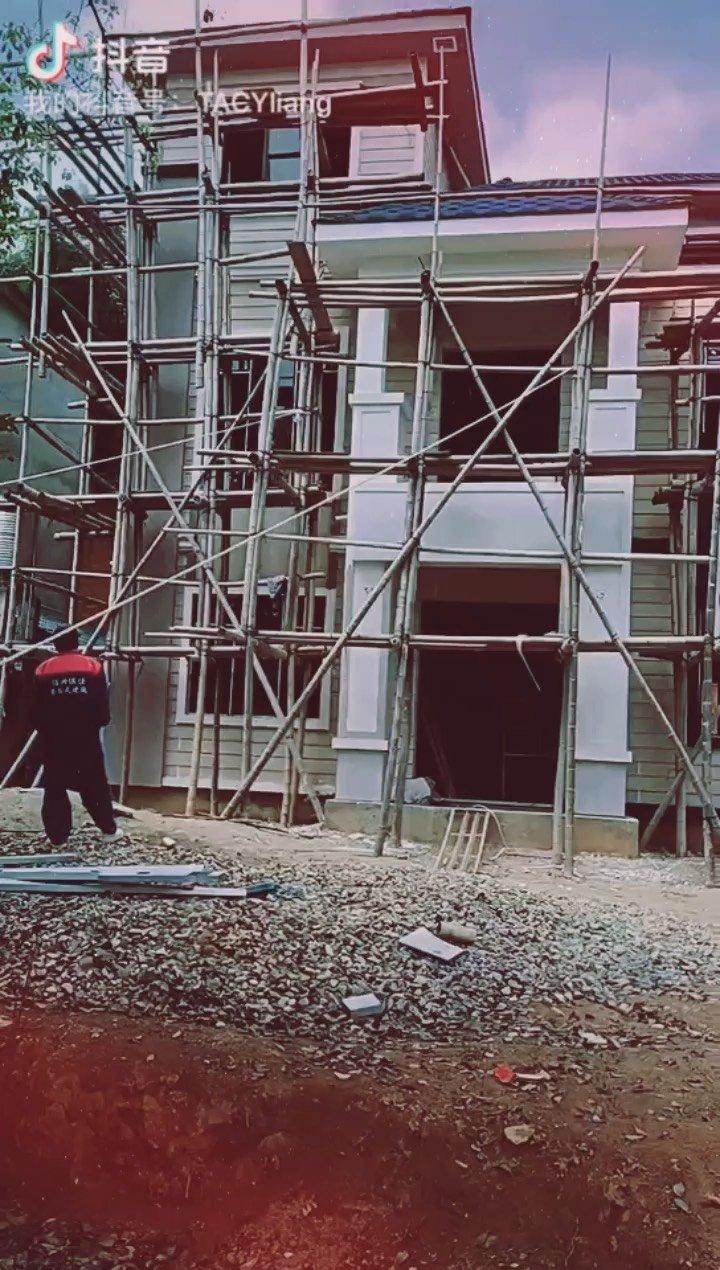 #装配式建筑 #施工现场 农村建别墅,找我!!!