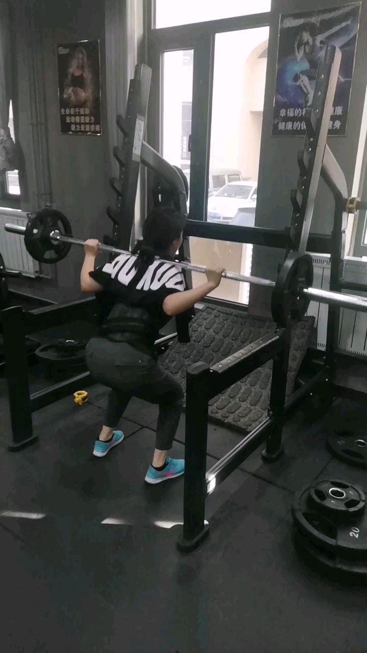 第二次练腿   深蹲40kg