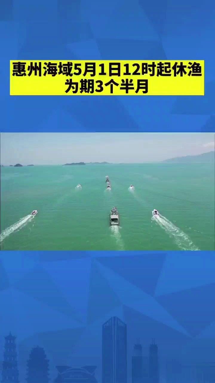 惠州海域进入休渔期啦