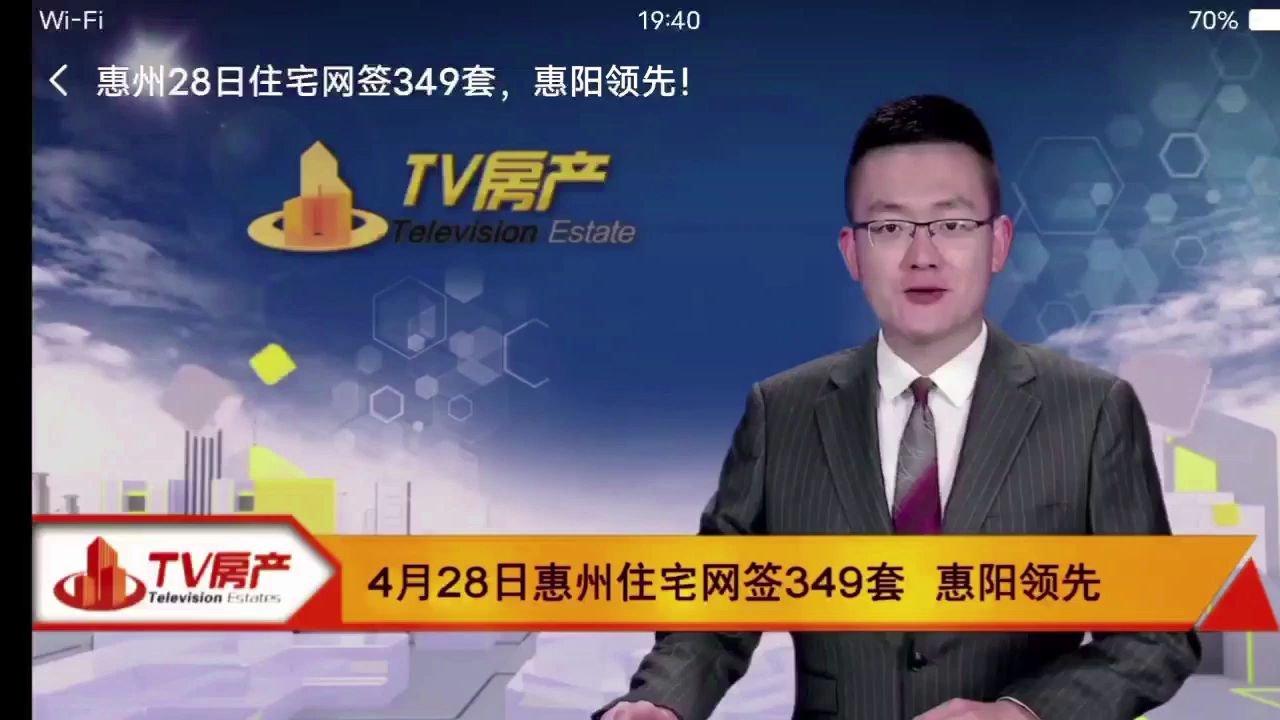 惠州网签349套住宅