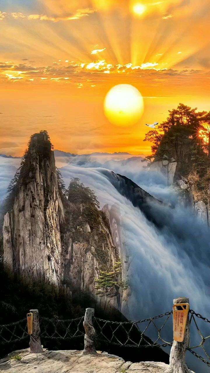日出东方催人醒,不及晚霞懂我心❤%风景%旅行  #带上花椒去旅行