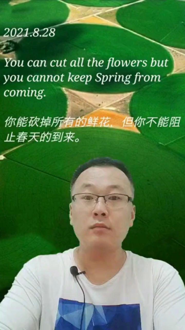 你能砍掉所有的鲜花,但你不能阻止春天的到来。