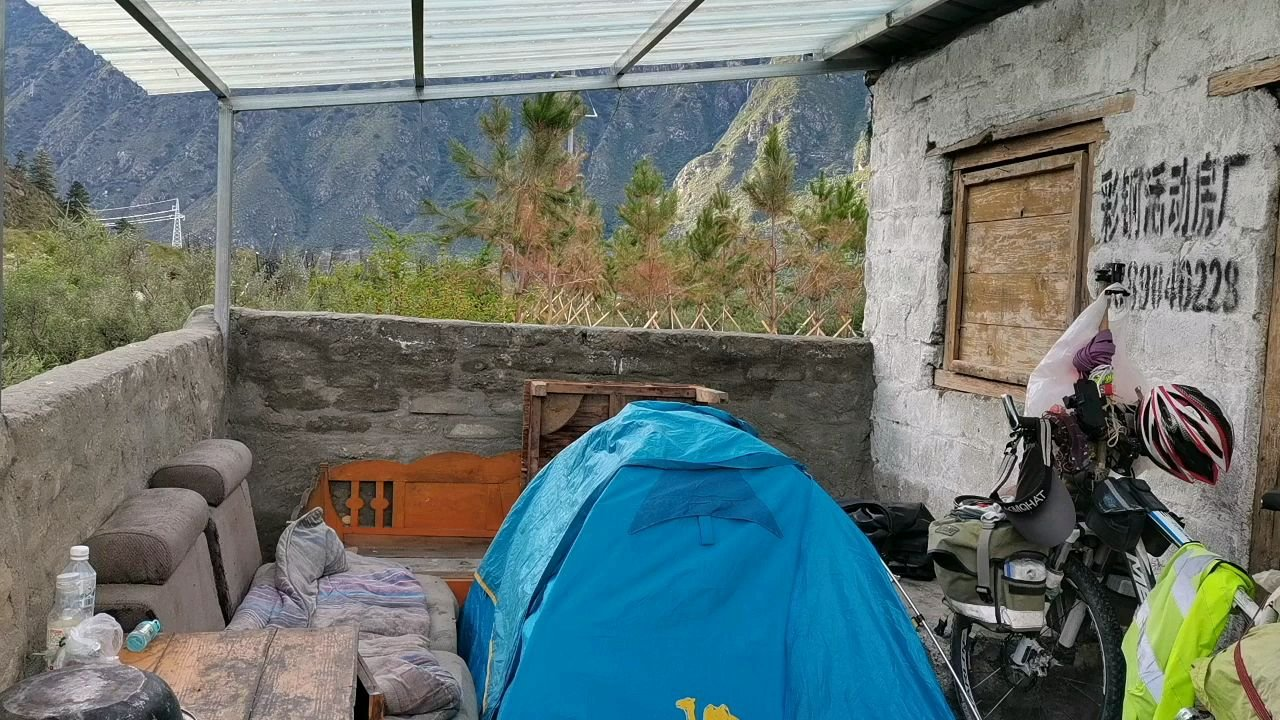 骑行中国 六进西藏之林芝 今天营地有惊喜#我的舞台不止讲台 #百年奋进京彩启航 #带上花椒去旅行