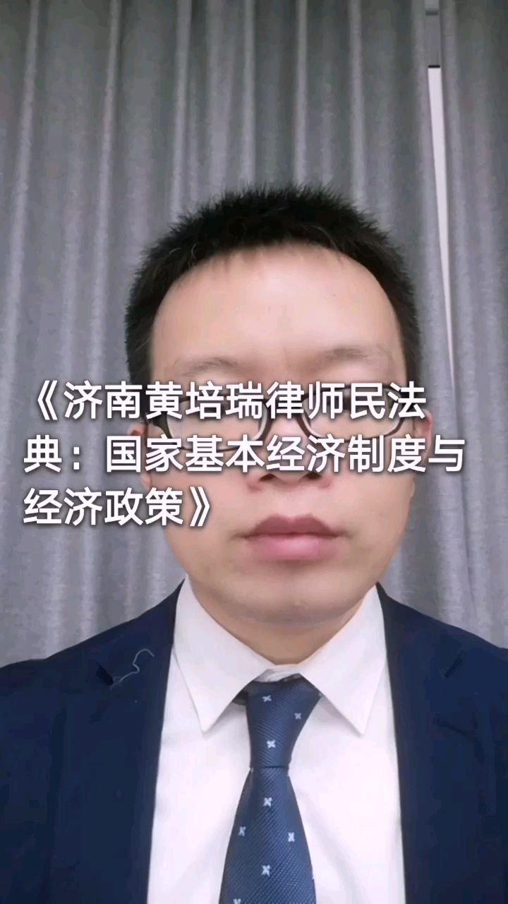 《济南黄培瑞律师民法典:国家基本经济制度与经济政策》